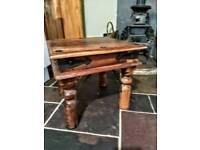Rustic Indian wood side table