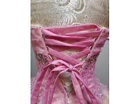 Prom dress size 6/8 mori lee designer princess pink