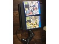 PS 4 thin, controller and sports bundle (FIFA and madden 17)