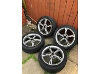 "Seat Leon 07 2l fr 17"" alloys with legal tyres"