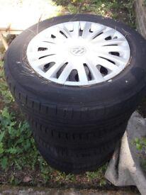VW tyres x 4