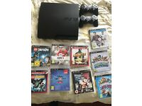 PlayStation 3, 2 controllers and 9 games