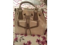 Leather handbag,White and grey brand new with tags