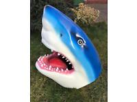 Lifesize fibreglass shark head