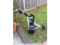 Open to offers...Powakaddy freeway sport electric golf trolley, pneumatic/air tyres NO BATTERY INC