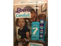 LIBERO comfort size 7 nappies diapers