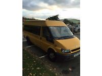 54 PLATE FORD TRANSIT MINIBUS LONG MOT LOW MILES XLWB GREAT CAMPER CONVERSION OR MINIBUS