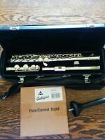 Flute with case and stand