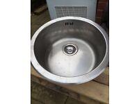 Round stainless sink