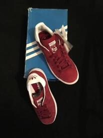 Adidas Stan Smith trainers in red suede