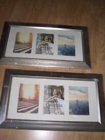 Two Unused, Unopened Photo Frames for Wall Mounting. Will hold Six 5 X 7 Photos