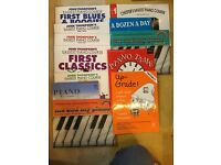 Beginners Piano Books, selection of 12, ideal for children