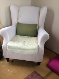 Two wing back chairs