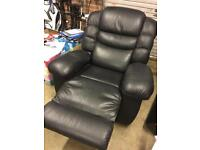 Lazy Boy arm chair with massage unit beer fridge and built in phone
