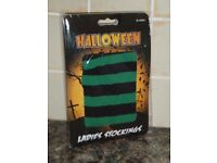 HALLOWEEN LADIES STOCKINGS - GREEN - BRAND NEW IN PACKET