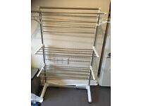 Large folding Clothes airer, on wheels, folds for storage, hardly used, £30 ono