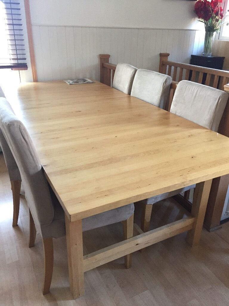 Reduced to 60 ikea norden extendable birch dining table for Extendable table ikea