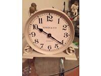 Cream mantle clock