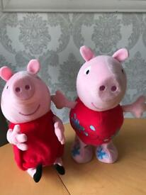 Peppa pig jumping and laughing moving toys
