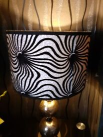 2 BLACK & GREY TABLE LAMPS