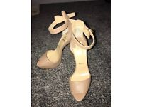 Brand new Christian louboutin size 5 and a half nude platform heels