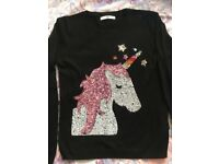 M&S unicorn jumper age 11-12
