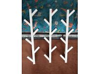 3 x Tree style wall hooks for bags & coats etc
