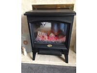 Black electric freestanding fire in very good condition only been used a couple of times