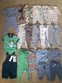 Next, Zara, Ted Baker Baby Boy Clothes Bundle (from newborn, up to 3 months)