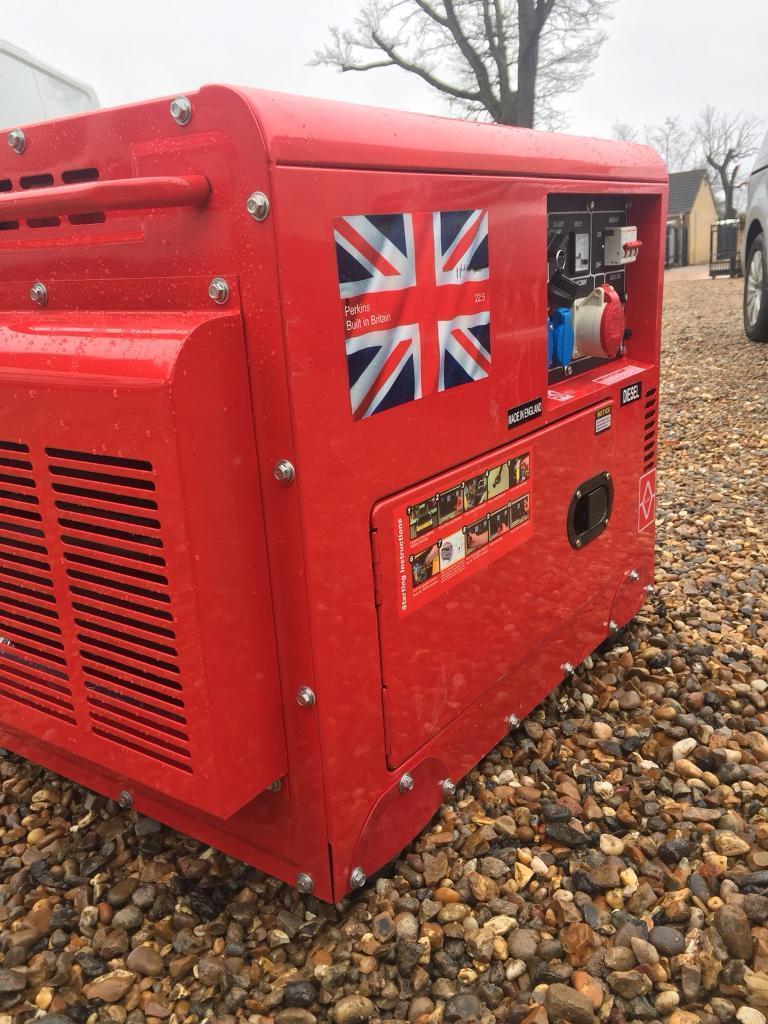 22 5 kva key start Perkins diesel generator   in Hatfield, Hertfordshire    Gumtree