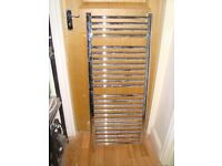 2 x Chrome Heated Bathroom Towel Radiator