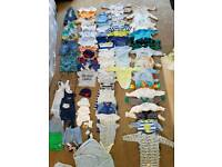 Huge bundle of 0-3 months boys clothes. Lots never worn