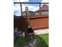 Stainless steel chiminea