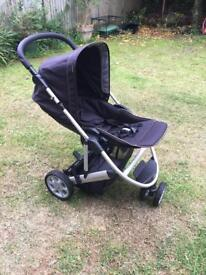Mamas and papas push chair carrycot and car seat