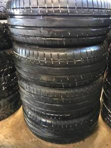 Set of 215/55ZR16 tires. 215 55 16