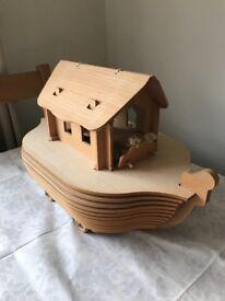 Wooden (mdf) Noah's ark