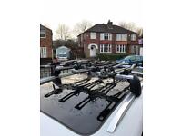 Audi Q7 roof rack with 4 bike carriers