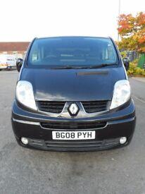 FINANCE ME!! NO VAT!!Renault trafic sport lwb panel van with full service history in midnight black