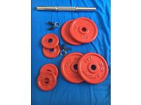 Weights set with bar