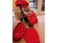 Bugaboo bee in red with loads of extras