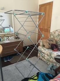 Easy up foldable indoor clothes airer