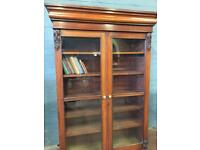 Victorian Mahogany Glass Fronted Cabinet
