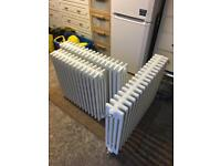 White Period Style 4 column central heating radiators