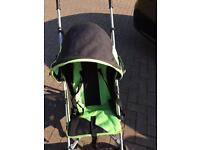 Babystart pushchair with mclarens raincover