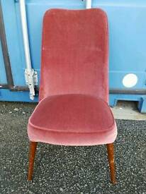 Nice low mid century retro vintage upholstered bedroom chair. Ideal for upcycling