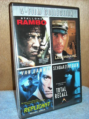 Rambo/Legionnaire/Replicant/Total Recall (DVD, 2010, 3-Disc Set) action films