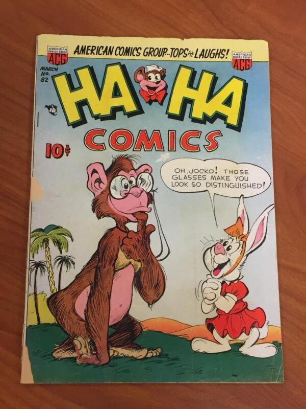 HA HA Comics #82 ACG Comics 1952 GD-