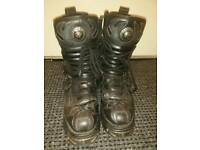 New Rock Style M.107-S2 Demon Flames Boots Size 9.5