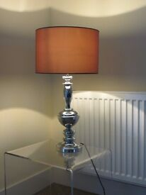 Luxury standing lamp including shade