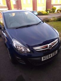 Vauxhall Corsa 2015 1.2 Petrol Blue 3dr - Great Condition - Cheap to run